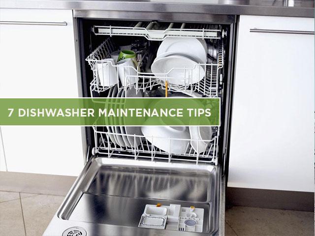 7 Dishwasher Maintenance Tips