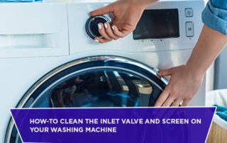 How-To Clean The Inlet Valve And Screen On Your Washing Machine